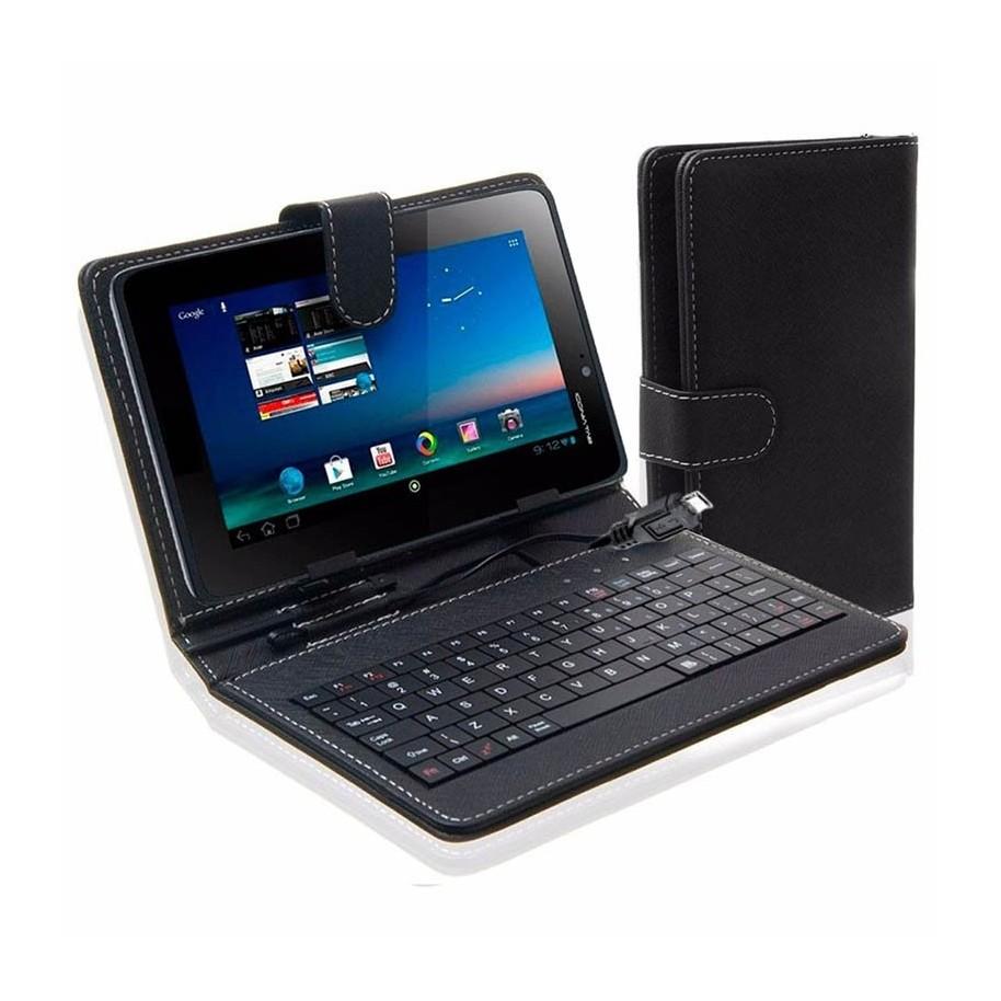 Funda tablet 10 pulgadas con teclado micro usb cuero negro - Fundas con teclado para tablet ...