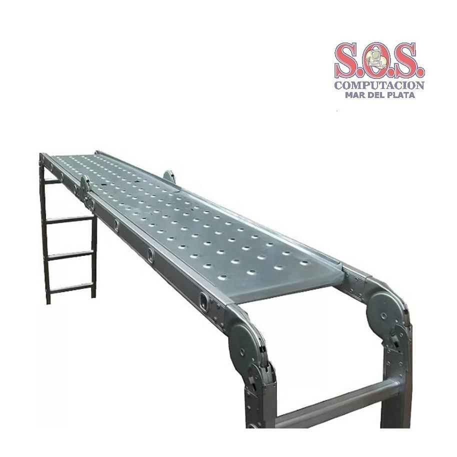 Chapon andamio para escalera de aluminio articulada 4x5 5 9mts - Escalera andamio aluminio ...
