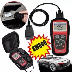 SCANNER DE DIAGNOSTICO AUTOMOTRIZ UNIVERSAL OBDII KPONNWEI KW808 FUNDA MANUAL CD