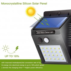 APLIQUE LED REFLECTOR PANEL SOLAR SENSOR MOVIMIENTO FRIO 6w