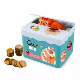 ALCANCIA BOX AUTOMATICA INFANTIL GATITO CAKE BOX CON MOVIMIENTO A PILAS