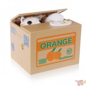 ALCANCIA BOX AUTOMATICA INFANTIL GATITO MISCHIEF BOX CON MIVIMIENTO A PILAS