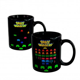 TAZA MAGICA SPACE INVADERS TERMO SENSIBLE CAMBIA CON CALOR