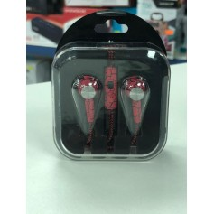 AURICULAR IN EAR IDEAL PARA PS4 CON MICROFONO MANOS LIBRES BLACK AND RED SPIDERMAN