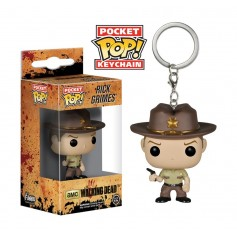 LLAVERO FUNKO POP RICK THE WALKING DEAD ORIGINAL