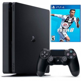 PLAYSTATION 4 PS4 CONSOLA SLIM 1TB + JOYSTICK SONY + JUEGO FIFA 2018