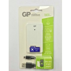 CARGADOR PORTATIL MINI DE CELULAR 1800MAH CON CABLE MICRO USB GP POWERBANK