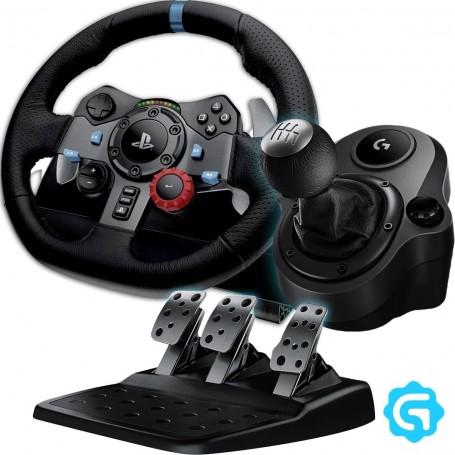 VOLANTE LOGITECH G29 PS3 PS4 DRIVING FORCE + PALANCA DE CAMBIOS DRIVING FORCE SHIFTHER LOGITECH G29/290