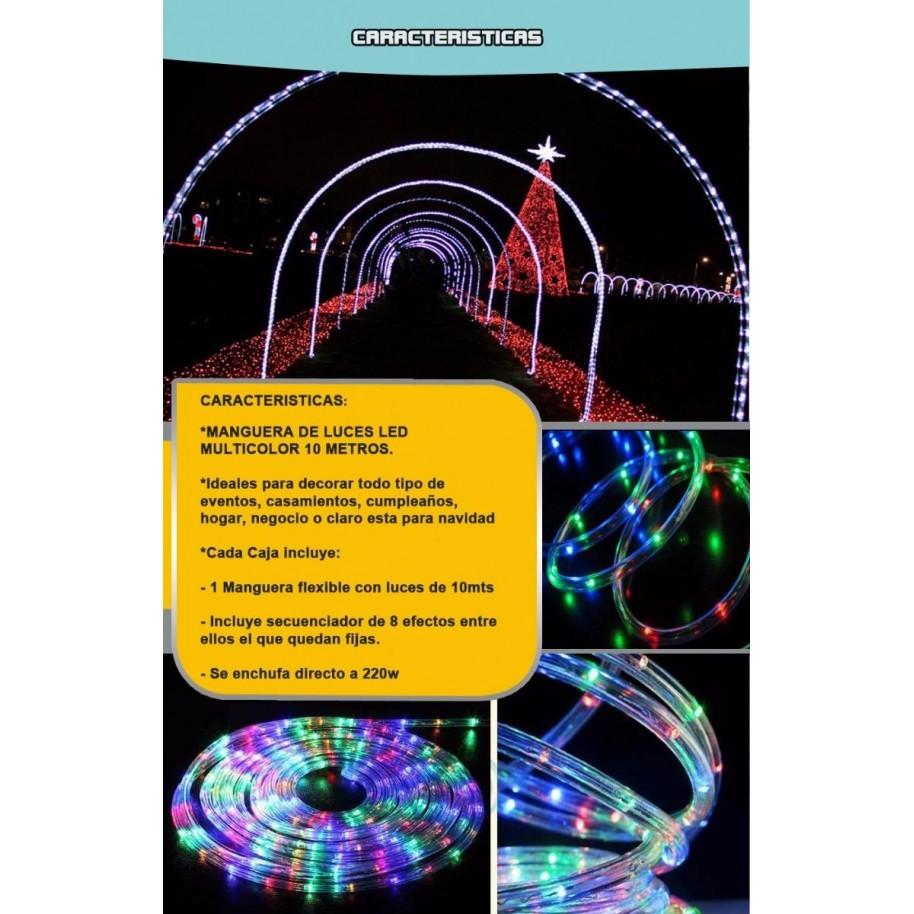 52300b89192 MANGUERA ROLLO TIRA LED 10 METROS MULTICOLOR RGB EXTERIOR