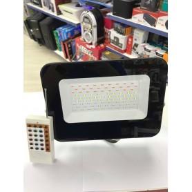 REFLECTOR LED RGB 50W CON CONTROL REMOTO SIX ELECTRIC PROYECTOR