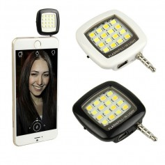 LUZ PARA CELULAR IDEAL SELFIES CON BATERIA CONECTOR PLUS