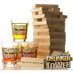 DRUNKEN TOWER YENGA 4 VASOS SHOTS JUEGO ADULTO CHUPITOS PARA PREVIA