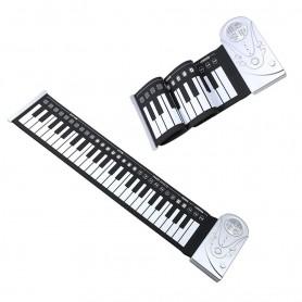 PIANO ORGANO GOMA PLEGABLE TECLADO ELECTRONICO PARLANTE 37 TECLAS