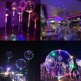 GLOBO LED BURBUJA LUMINOSO LED FIESTA DECORACION ALAMBRE