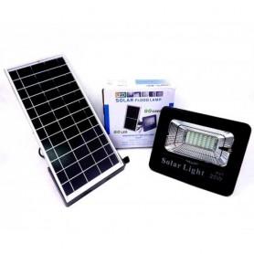 REFLECTOR LED RECARGABLE 20W CON PANEL SOLAR Y CONTROL REMOTO