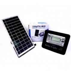 REFLECTOR LED RECARGABLE 20W CON PANEL SOLAR Y CONTROL REMOTO