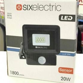 REFLECTOR LED C/ SENSOR MOVIMIENTO 20W BLANCO SMD LUZ DIA SIX ELECTRIC