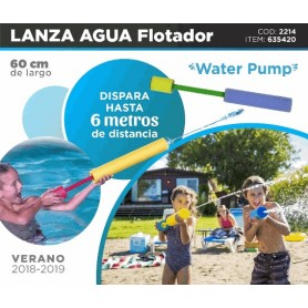 LANZA AGUA 60CM WATER PUMP FLOTADOR PILETA CARNAVAL