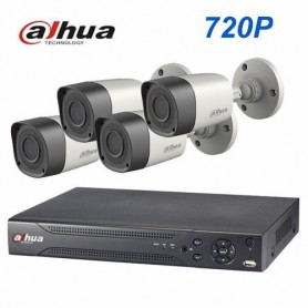 KIT 4 CAMARAS DAHUA HD + DVR HD 720 + CABLES + TRANSFORMADOR
