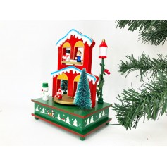 "CAJA MUSICAL CASA NAVIDE""A DECORATIVO CON MOVIMIENTO CHRISTMAS HOUSE BELLS CAJITA MUSICAL"