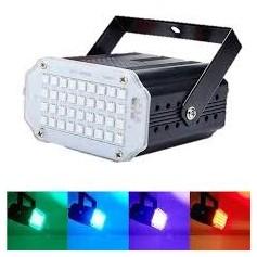 MINI FLASH LED RGB AUDIORRITMICO 24 LED FIESTAS DJ LUZ ESTROBOSCOPICA HYTOSHY HT-FC24