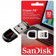 PEN DRIVE SANDISK 32GB USB 3,0 CRUZER FIT