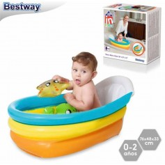 "BA""ERA INFLABLE BEBE BA""ADERA BABYS PISO 76X48X33CM 3 ANILLOS UP IN AND OVER BESTWAY"