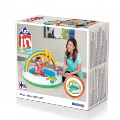 INFLABLE BABYS GIMNASIO JUEGO ARCOIRIS FLOR 91CMX56CM 36CMX22CM UP IN AND OVER BESTWAY