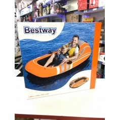 BOTE INFLABLE PARA DOS PERSONAS 1,96X1,14M HYDRO FOR BESTWAY