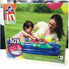 PILETA INFANTIL CON 50 PELOTITAS UP IN AND OVER 91 X 20CM BESTWAY PELOTERO