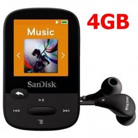 MP4 SANDISK CLIP SPORT 4GB MEMORIA EXPANDIBLE DISPLAY