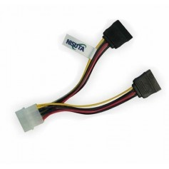 CABLE POWER SATA DOBLE A 4 PINES MOLEX NISUTA 20CM