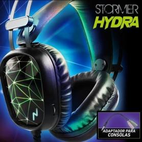 AURICULAR GAMER STORMER HYDRA NOGA PC CON ADAPTADOR PS4 CALIDAD SONIDO Y CONFORT