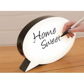 CARTEL LUMINOSO VIÑETA HOME SWEET A PILA Y USB A5 SIZE GF132218