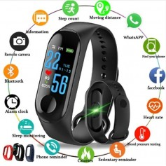 SMARTWATCH BAND M3 RELOJ INTELIGENTE CELULAR ANDROID IPHONE IP67 MONITOR RITMO CARDIACO