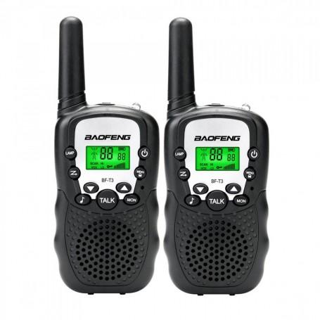 HANDY X2 BAOFENG BF-T3 RADIO WALKIE TALKIES UHF - 22 CANALES 2 UNIDADES COMBO 1KM