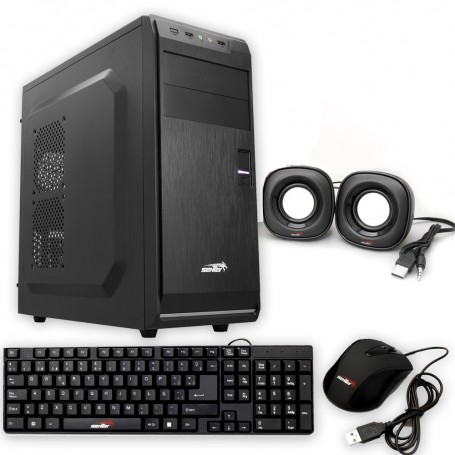GABINETE GAMER SENTEY G18 POWER KIT FUENTE MOUSE TECLADO Y PARLANTES