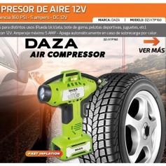 COMPRESOR 12V PARA AUTOMOVIL MOTO MEDIDOR DE PRESION MODERNO E INNOVADOR DAZA