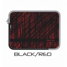 "BOLSO FUNDA SIN MANIJA 14"" BLACK AND RED SIGNO TECH"
