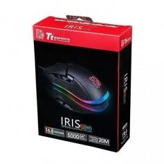 MOUSE THERMALTAKE TT IRIS BLACK RGB 5000DPI 8 EFECTOS ILUMINACION BOTONES LATERALES