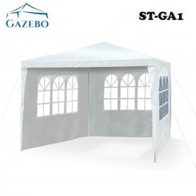 GAZEBO 3X3 METROS PLEGABLE REFORZADO EXTERIOR JARDIN PLAYA BLANCO ST-GA1