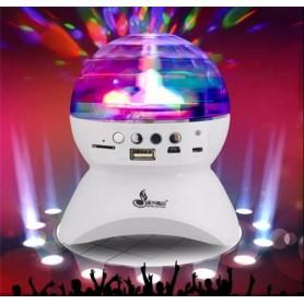 LUZ LED GIRATORIO BLUETOOTH SPEAKER USB FM MICRO SD L-740 BOLICHERA