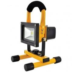REFLECTOR BATERIA 10W LUZ LED CON SOPORTE PORTABLE 12V FLT