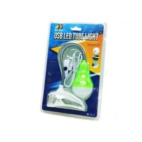 FOCO LED USB CON PINZA IDEAL LECTURA LUZ BLANCA