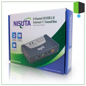 CONVERSOR USB A AUDIO 7.1 MICROFONO Y PARLANTES SOUND BOX