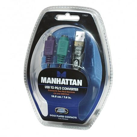 ADAPTADOR USB A PS2 MANHATTAN ORIGINAL