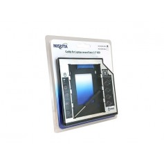CADDY NISUTA SEGUNDO DISCO NOTEBOOK HDD SATA O SSD UNIVERSAL 9.5MM