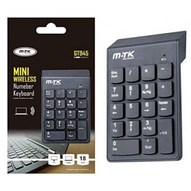 PAD NUMERICO INALAMBRICO MINI WIRELESS MTK GT945 NUMEBER KEYBOARD 18 TECLAS PC LAPTOP