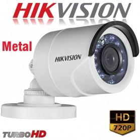 CAMARA BULLET HIKVISION 720P DS-2CE16C0T-IRM TURBO HD LENTE 2,8MM METAL