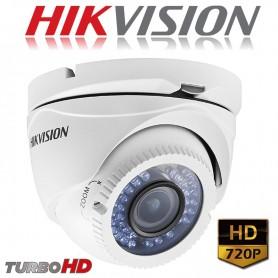 CAMARA DOMO HIKVISION 720P VARIFOCAL DS-2CE56C2T-VFIR3 TURBO HD LENTE 2.8 - 12mm METAL